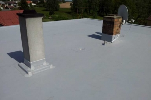 Střecha-detail komín
