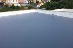 Střecha-detail zateplení atiky