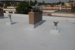 Střecha-detail komín,odvětrání