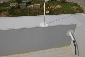 Střecha-detail atika vnitřní